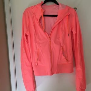 Lululemon neon cropped workout jacket